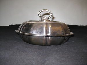 COHR- DENMARK ATLA SILVER PLATED SERVING DISH/BOWL WITH COVER
