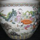 ANTIQUE HUGE CHINESE PORCELAIN FISH BOWL