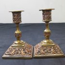 Antique Benetfink & Co. Cheapside Candle Stick Holder Pair.