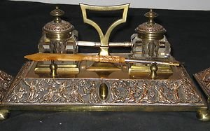 Antique Benetfink & Co. Cheapside Pen & Ink Stand.