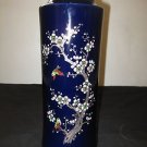 VINTAGE JAPANESE PORCELAIN VASE BLUE COLOR HAND PAINTED