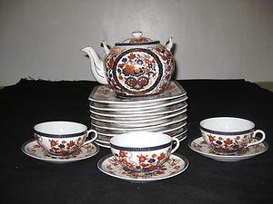 ANTIQUE RARE TRIPLE B JAPANESE PORCELAIN TEA POT AND PLATE SET