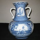 ANTIQUE THAILAND BLUE & WHITE PORCELAIN VASES HAND MADE