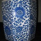 COLLECTIBLE CHINESE PORCELAIN OCTAGON BLUE AND WHITE PLANTER