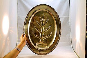 ANTIQUE ROGER'S & BRO SILVERPLATED OVAL MEAT TRAY WITH RIM FLORAL DESIGN 2310/18