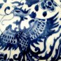 ANTIQUE CHINESE PORCELAIN LARGE SQUARE BLUE AND WHITE PHOENIX VASE