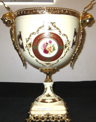Classic Gilt Metal Mounted Porcelain Vases.