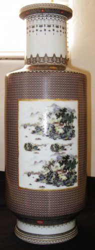 Antique Chinese Famille Rose Porcelain Vase, YongZeng Mark