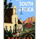 BOAC South Africa - 11x17 inch Vintage Airline Travel Poster Print