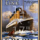 Titanic White Star Line #2 - 11x17 inch Poster/Print/Sailing Notice
