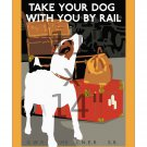 Take Your Dog With You by Rail - Vintage British Railways Poster 11x14 inches