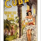 Cuba #1 - Vintage Travel Poster [6 sizes, matte+glossy avail]