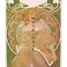 Alphonse Mucha Reverie Art Nouveau Print/Poster [4 sizes, matte+glossy avail]