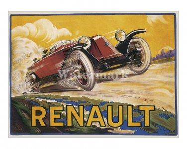 Renault - Vintage Automobile Avertisement Poster/Print