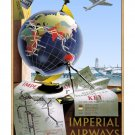 Imperial Airways #4 - Airline Travel Poster Print [6 sizes, matte+glossy avail]