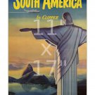 Pan Am - South America #1 - Vintage Airline Travel Poster 11x17 inches