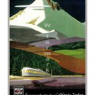 California Zephyr Vintage Rail Road Travel Poster [6 sizes, matte+glossy avail]