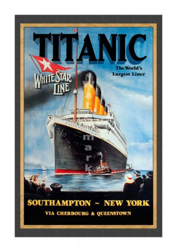 Titanic White Star Line Sailing Notice Travel Poster [6 sizes matte+glossy avail