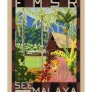 Malaya #3 - Vintage Travel Poster [4 sizes, matte+glossy avail]