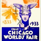 1933 Chicago World's Fair #2 - 11x17 Vintage Art Deco Poster