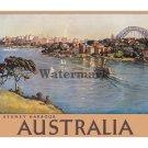 Australia - Sydney Harbour - Vintage Travel Poster [4 sizes, matte+glossy avail]