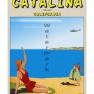Catalina Island California - Vintage Travel Poster [4 sizes, matte+glossy avail]