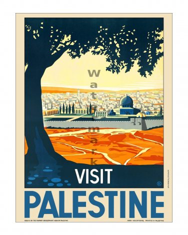 Visit Palestine #1 - Vintage Travel Poster [4 sizes, matte+glossy avail]