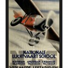 Nationale Luchtvaart School Vintage Aviation Poster [4 sizes matte+glossy avail]