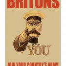 Britons Join Your Army! WW I Recruiting Poster [6 sizes, matte+glossy avail]