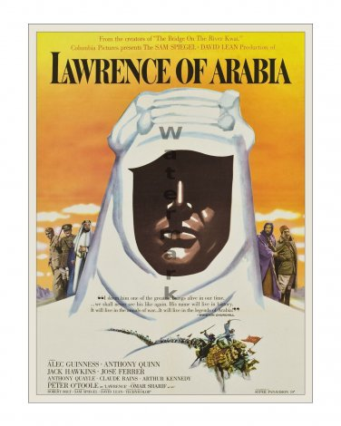 Lawrence of Arabia - Vintage Film Movie Poster [4 sizes, matte+glossy avail]