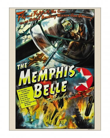 Memphis Belle Vintage WW II Film Movie Poster [4 sizes, matte+glossy avail]