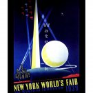 1939 New York Worlds Fair #3 Art Deco Poster [4 sizes, matte+glossy avail]