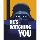 Hes Watching You World War II US Propaganda Poster [4 sizes, matte+glossy avail]