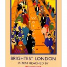 Brightest London - Vintage Travel Poster [4 sizes, matte+glossy avail]