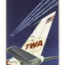 TWA StarStream Jets Vintage Airline Travel Poster [6 sizes, matte+glossy avail]