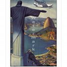 Pan Am Flying Down to Rio #1 Airline Travel Poster [6 sizes matte+glossy avail]