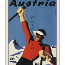 Austria #1 - Vintage Travel Poster [4 sizes, matte+glossy avail]