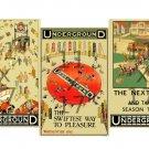 Vintage London Underground Posters 3pc Vintage Poster Set (Set #1)