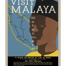 Malaya #2 - Vintage Travel Poster [4 sizes, matte+glossy avail]