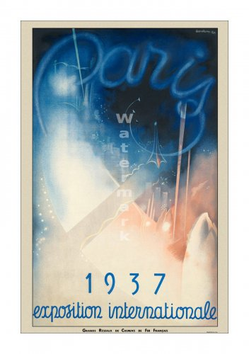 1937 Paris Exposition #1 - Vintage Poster Print [4 sizes, matte+glossy avail]