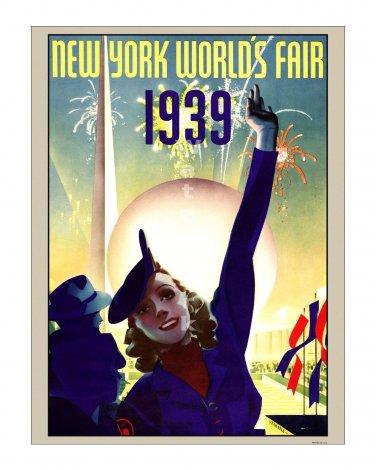 1939 New York World's Fair #2 Art Deco Poster Print [4 sizes, matte+glossy avail