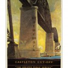 NY Central RR - Castleton Cutoff - Travel Poster [6 sizes, matte+glossy avail]