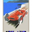 Cote d' Azur - Vintage Auto Racing [6 sizes, matte+glossy avail]