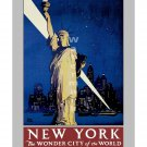NY Central RR - Wonder City - Vintage Travel Poster [4 sizes matte+glossy avail]