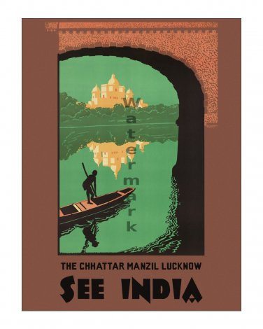 See India #5 - Vintage Travel Poster [4 sizes, matte+glossy avail]