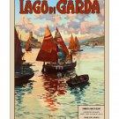 Lago di Garda - Vintage Italian Travel Poster Print [4 sizes, matte+glossy avail