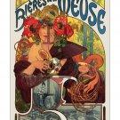Bieres de la Meuse - 11x17 inch Alphonse Mucha Art Nouveau Print