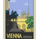 Vienna Austria - Vintage Travel Poster [4 sizes, matte+glossy avail]