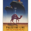 Palestine Line Vintage Steamship/Sea Travel Poster [6 sizes, matte+glossy avail]