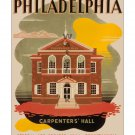 Philadelphia #1 - Vintage Travel Poster [4 sizes, matte+glossy avail]